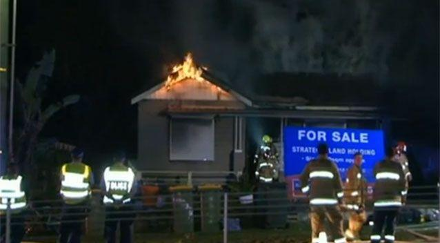 In Paramatta in the early hours of Monday morning, another is gutted by flames. Photo: 7 News