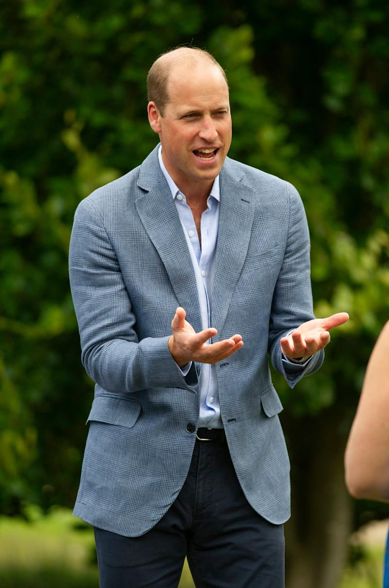 Prince William spoke as he hosted an outdoor screening of the FA Cup Final on the lawn of Sandringham House (PA)