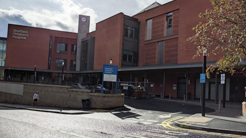 Sheffield Children's Hospital in Yorkshire, England, where a 13-day-old baby died after being infected with coronavirus.