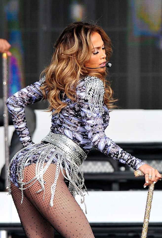 "<b>Jennifer Lopez's Butt</b><br />""We all want J.Lo's perky booty and the most effective exercise to achieve this would be with the basic squat,"" reveals Miller. ""With your feet hip-width apart, slowly drive up through your heels, straightening your legs, and then squat back down again. This will really target that butt by lifting and toning it!""<br />"