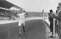 """<p>In 1908, American John Carpenter was disqualified from the 400 meter race for blocking British competitor Wyndham Halswelle, who attempted to pass him. A second race was scheduled, in which Halswelle would have faced two other American contenders, but they both boycotted the race to protest Carpenter's disqualification. As a result, Halswelle won gold in the <a href=""""https://olympics.com/en/news/halswelle-wins-controversial-400m-gold"""" rel=""""nofollow noopener"""" target=""""_blank"""" data-ylk=""""slk:only walkover in Olympics history"""" class=""""link rapid-noclick-resp"""">only walkover in Olympics history</a>.</p>"""