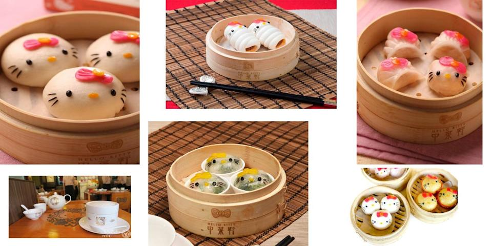"""<p>All your favourite dim sum is Hello Kitty-fied in this restaurant. This is a Hello Kitty's fan dream come true.<i> (Photo Credit: <a href=""""https://www.facebook.com/Hello-Kitty-Chinese-Cuisine-1563069353906504/"""" rel=""""nofollow noopener"""" target=""""_blank"""" data-ylk=""""slk:Facebook"""" class=""""link rapid-noclick-resp"""">Facebook</a>, <a href=""""https://twitter.com/search?f=images&vertical=default&q=hello%20kitty%20chinese%20cuisine&src=typd"""" rel=""""nofollow noopener"""" target=""""_blank"""" data-ylk=""""slk:Twitter"""" class=""""link rapid-noclick-resp"""">Twitter</a>)</i></p>"""