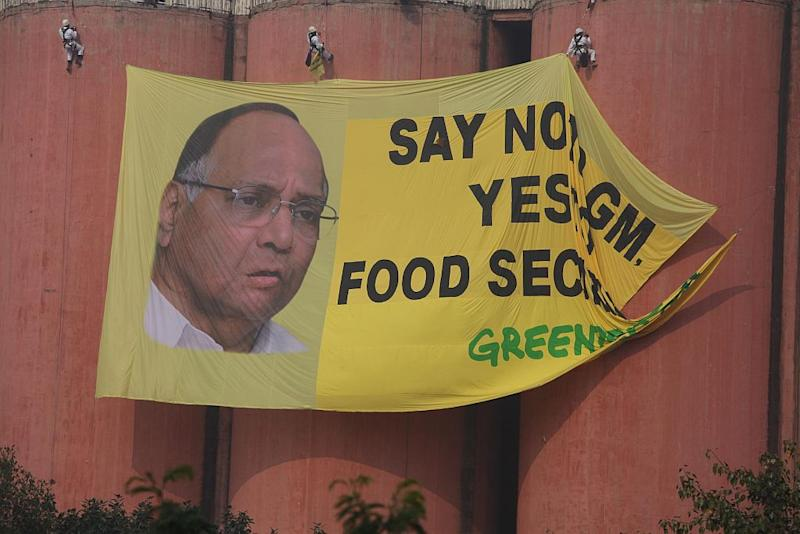Greenpeace GM Food Security Protest FCI godown Delhi