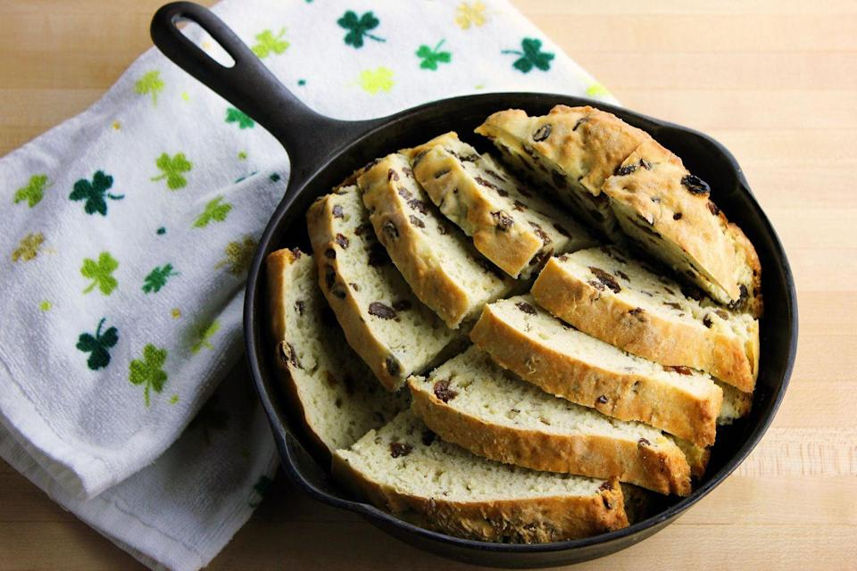 """<p>What would St. Paddy's Day be without some classic <a href=""""https://www.goodhousekeeping.com/food-recipes/a5266/soda-bread-1578/"""" rel=""""nofollow noopener"""" target=""""_blank"""" data-ylk=""""slk:soda bread"""" class=""""link rapid-noclick-resp"""">soda bread</a> on the table? A traditional Irish specialty, this yummy treat will add a festive flair to every St. Patrick's Day celebration. </p>"""