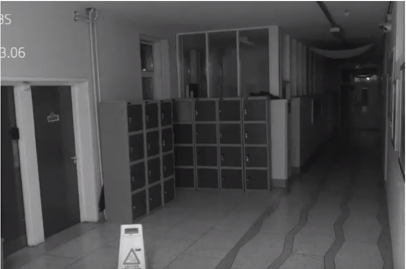 A ghost was caught on camera at a school in Cork, Ireland. Photo: Deerpark CBS
