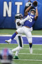 New York Giants' Golden Tate (15) catches a pass in front of Philadelphia Eagles' Nickell Robey-Coleman during the second half of an NFL football game Sunday, Nov. 15, 2020, in East Rutherford, N.J. (AP Photo/Seth Wenig)