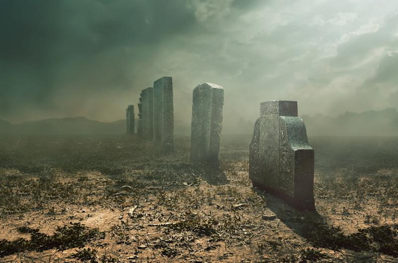 2018's market crash has opened up a whole new graveyard for failed crypto projects. | Source: Shutterstock