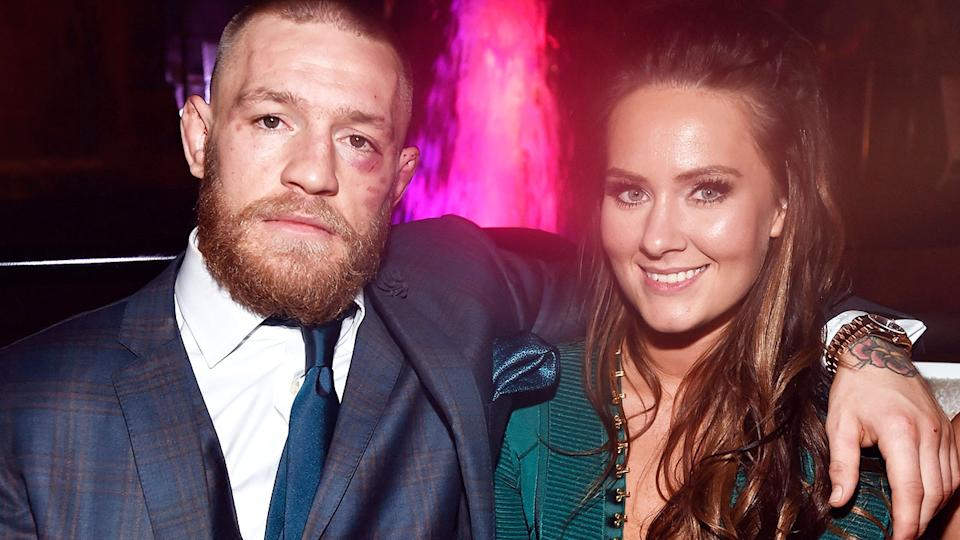 Conor McGregor and wife Dee Devlin, pictured here in 2016.
