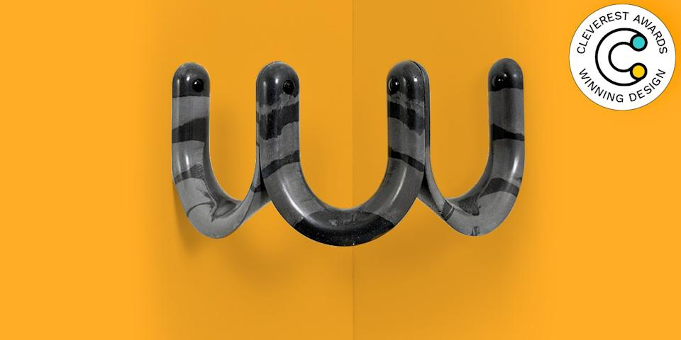 Ü Coat Rack by Studio Matérial Screw together three of these sculptural acrylic resin hooks and turn an otherwise useless corner into a handy spot for storing coats and hats. $168, fracas-online.com