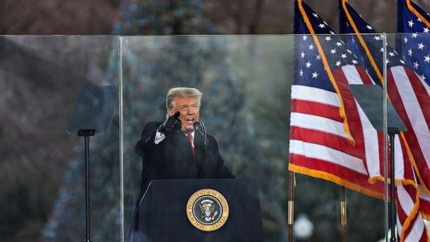 PHOTO: President Donald Trump speaks at a 'Save America March' rally in Washington D.C. on Jan  6, 2021. (Anadolu Agency via Getty Images, FILE)