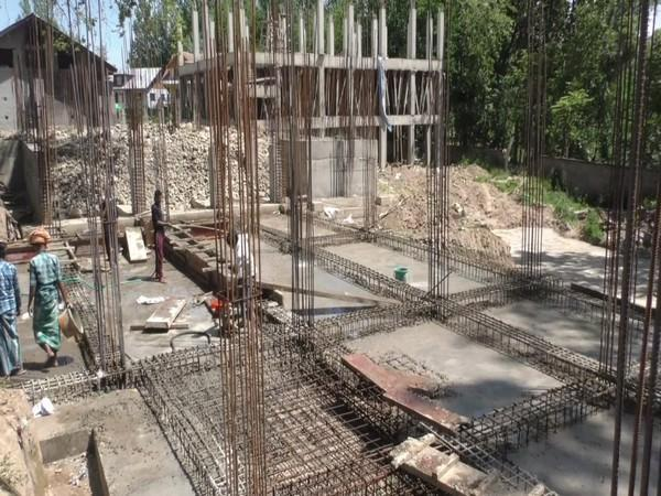 Construction of the 50-bed hospital underway. (Photo/ANI)