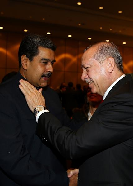 A surprise guest was Venezuela's leftist President Nicolas Maduro, whose country has no significant Muslim population but is a bitter critic of US policy (AFP Photo/KAYHAN OZER)