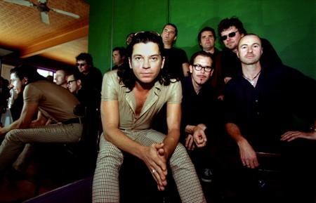 FILE PHOTO: Australian band INXS pose for a photograph in Sydney