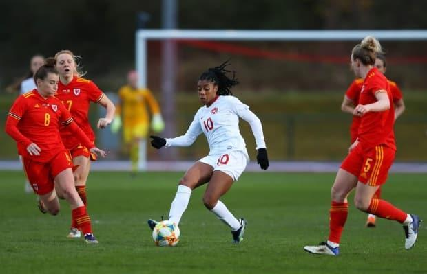 Canada will need more than the superb two-way play of fullback Ashley Lawrence, middle, if it hopes to win a medal in Tokyo.  (Warren Little/Getty Images - image credit)