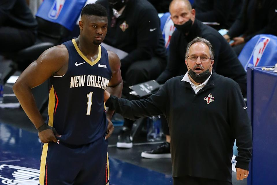 Stan Van Gundy coaches rising New Orleans Pelicans star Zion Williamson for one season. (Jonathan Bachman/Getty Images)