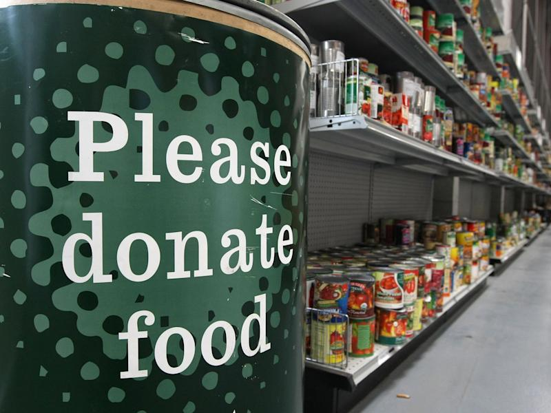 (The president's mandate to include letters from him in food boxes sent to millions has been described as 'egregious' by food bank leaders)