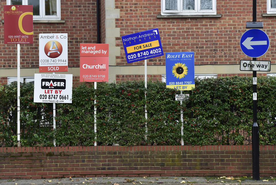 An average single UK renter now spends 31% of their salary on rent, according to a study. Photo: Toby Melville/Reuters