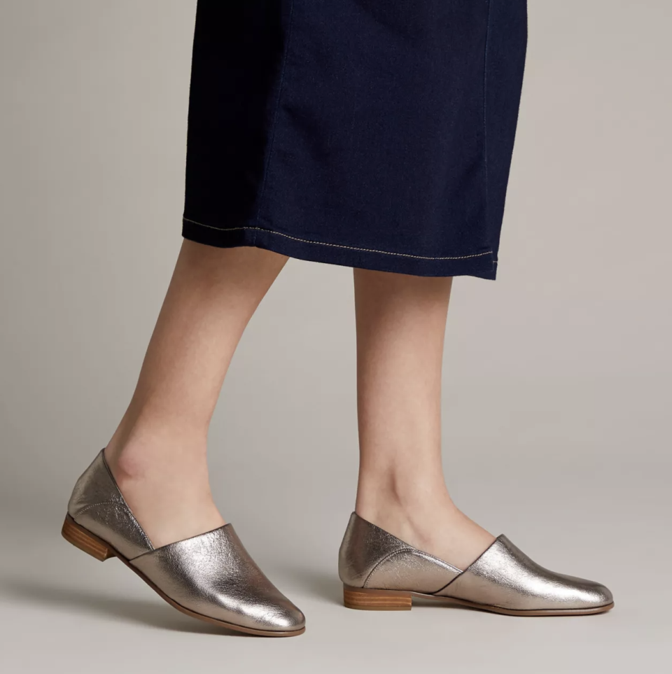 Add a touch of glitz and glam to your look. (Photo: Clarks)