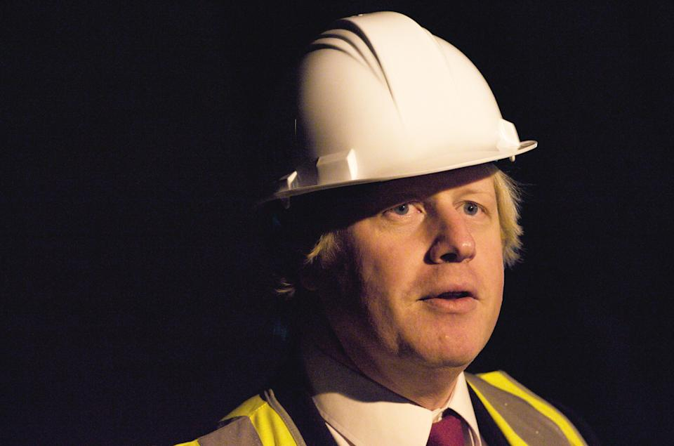 LONDON, UNITED KINGDOM - JANUARY 06: Boris Johnson launchs the preparationss for the build work for the extension of the Tate Modern in the old oil tank of the former power station that the Tate is situated in on January 06, 2010 in London, England. (Photo by Andrew Cowie / Barcroft Media / Getty Images)