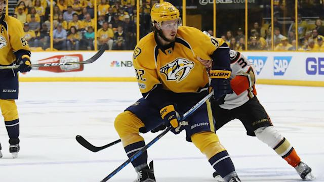 Ryan Johansen, 24, is expected to be sidelined for two to three months.