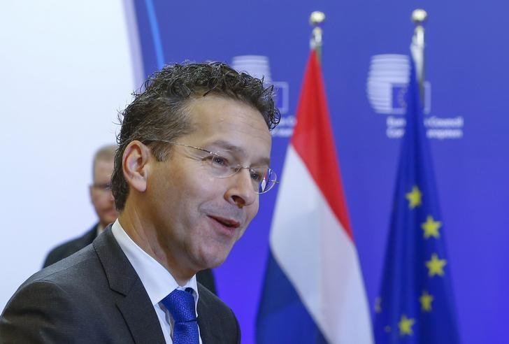 Eurogroup President Dijsselbloem arrives for a European Union finance ministers meeting in Brussels