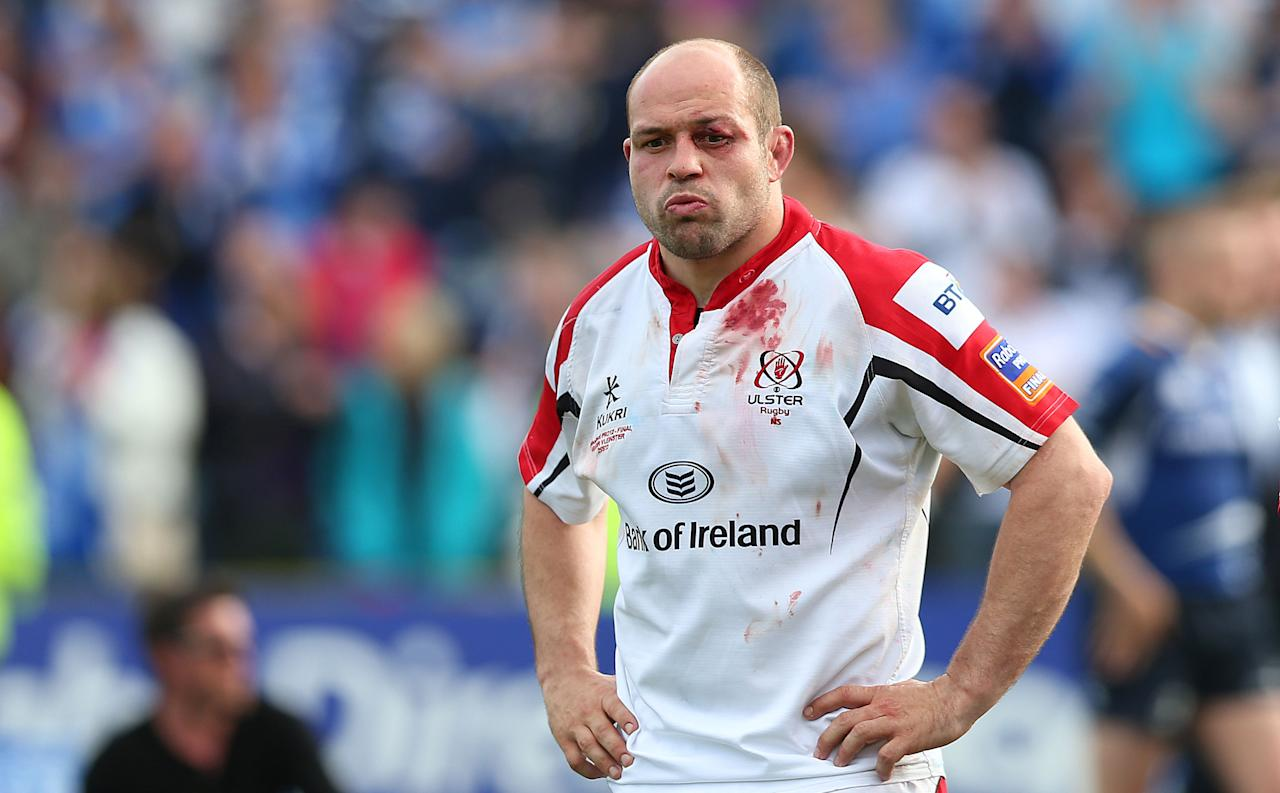 Ulster's Rory Best stands dejected during the RaboDirect PRO12 Final at the RDS, Dublin, Ireland.
