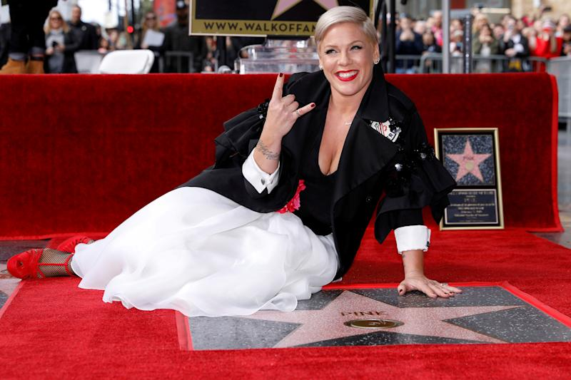 Pink pushed back against commenters who criticized her participation in a protest following the death of George Floyd. (Photo: REUTERS/Mike Blake)