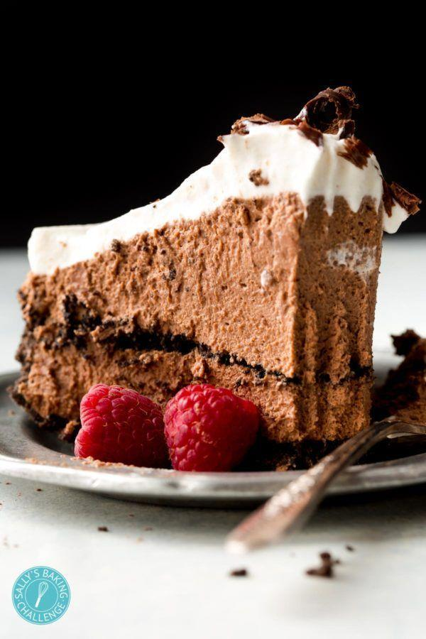 "<p>Top off this tall treat with chocolate shavings, chocolate sprinkles, or fresh raspberries. But of course, it's still delicious without any garnish at all.</p><p><strong>Get the recipe at <a href=""https://sallysbakingaddiction.com/sky-high-chocolate-mousse-pie/"" rel=""nofollow noopener"" target=""_blank"" data-ylk=""slk:Sally's Baking Addiction"" class=""link rapid-noclick-resp"">Sally's Baking Addiction</a>.</strong></p><p><strong><a class=""link rapid-noclick-resp"" href=""https://www.amazon.com/6-5-QT-6-Speed-Tilt-Head-Kitchen-Electric/dp/B07NY886CD/?tag=syn-yahoo-20&ascsubtag=%5Bartid%7C10050.g.957%5Bsrc%7Cyahoo-us"" rel=""nofollow noopener"" target=""_blank"" data-ylk=""slk:SHOP STAND MIXERS"">SHOP STAND MIXERS</a><br></strong></p>"
