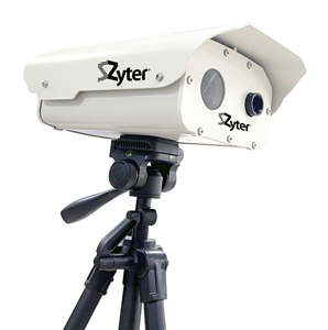 Zyter ThermalAlert is a dual spectrum thermal imaging solution that delivers continuous, real-time, no-contact temperature monitoring that's highly accurate (≤ ± 0.5°F). It will measure the human body temperature (between 86°F to 113°F) of up to 6 people simultaneously within the temperature detection zone from a distance of up to 20 feet, far surpassing the 1-6 feet industry average. Learn more at www.Zyter.com/COVID19