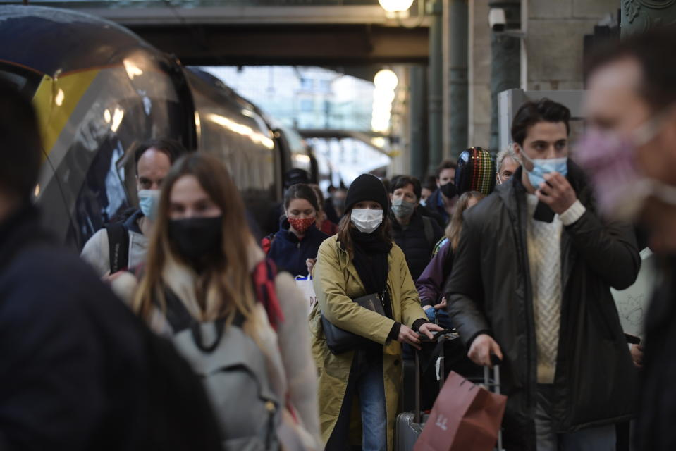 Passengers from London arrive at the Eurostar terminal in Gare du Nord train station in Paris. Source: AAP