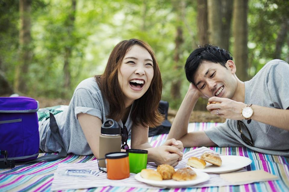 <p>Pack your favorite foods, and enjoy them on a blanket in your backyard. Picnics are fun for a small group, with your significant other, or just by yourself.</p>