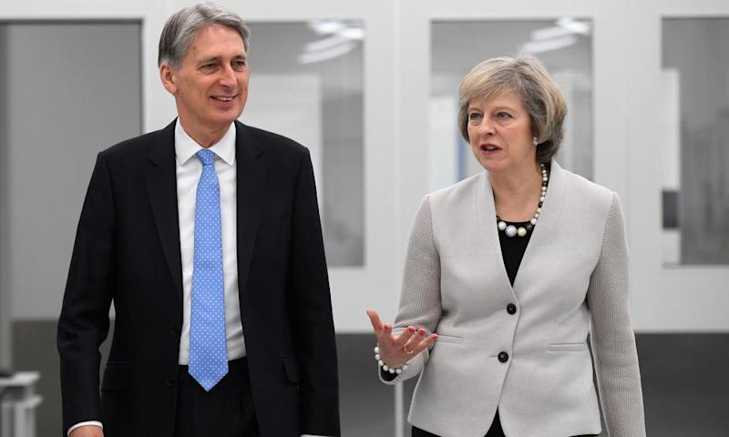 Philip Hammond with Theresa May.