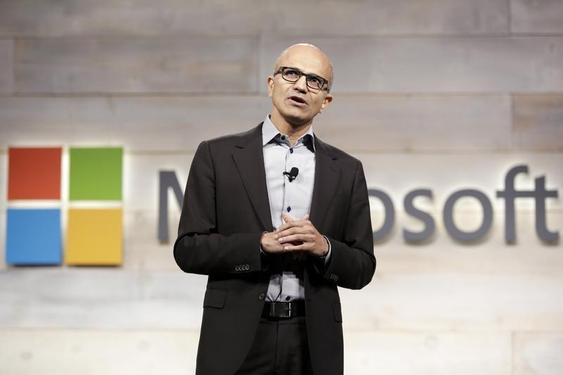 Microsoft Corp Chief Executive Satya Nadella speaks at his first annual shareholders' meeting in Bellevue, Washington December 3, 2014. REUTERS/Jason Redmond