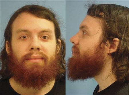 Handout of Andrew Auernheimer in this police booking photograph
