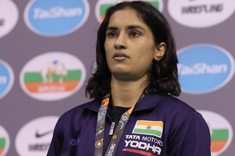 Having moved into the 53kg weight class, the World Championships will be a real test of Vinesh Phogat's credentials. Image courtesy: Wrestling Federation of India