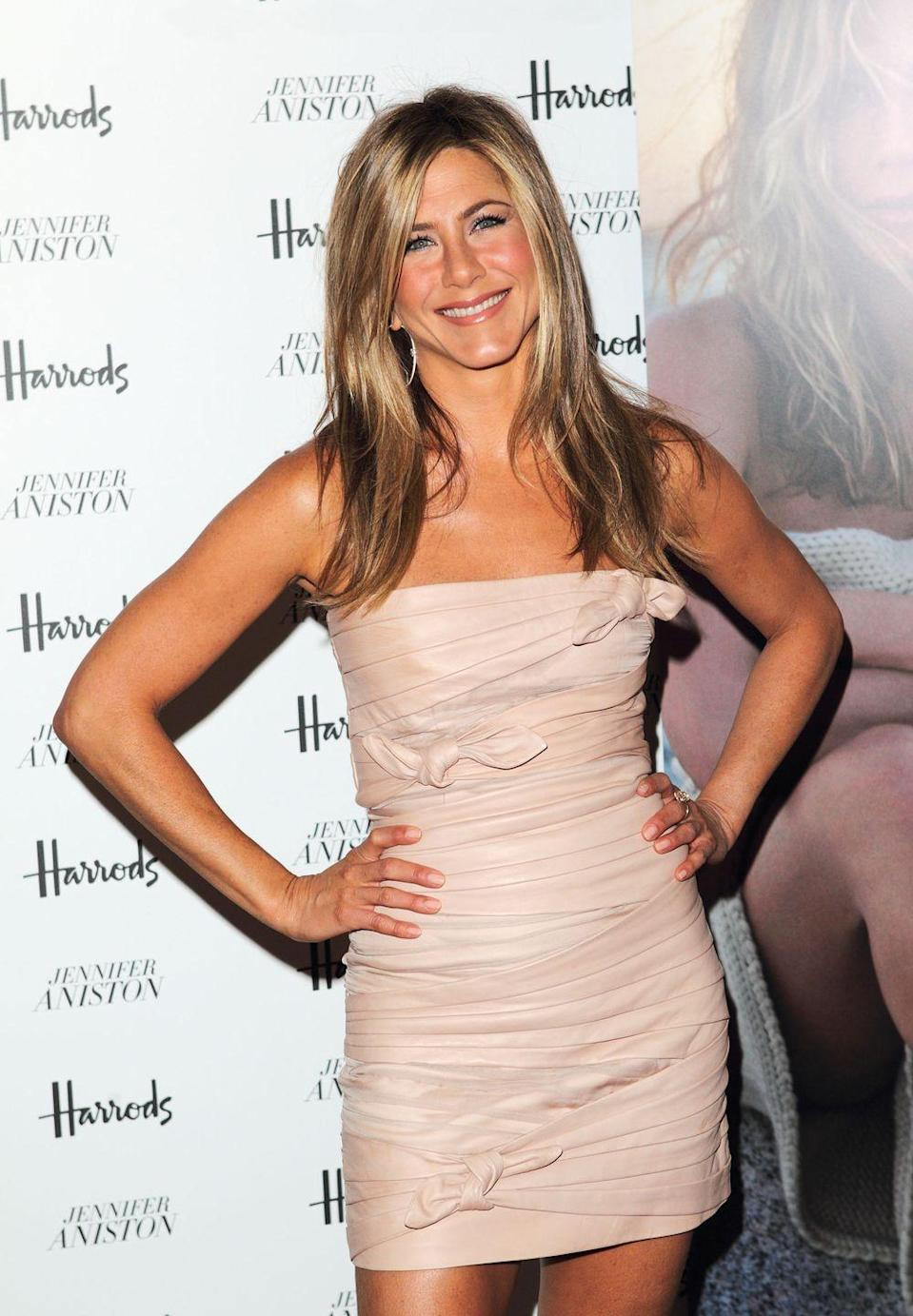 """<p>""""It's the longest workout I've actually stayed with consistently other than yoga,"""" she told <a href=""""https://www.instyle.com/news/jennifer-aniston-september-cover"""" rel=""""nofollow noopener"""" target=""""_blank"""" data-ylk=""""slk:InStyle"""" class=""""link rapid-noclick-resp"""">InStyle</a>. """"There's something about the mental aspect of boxing—the drills, your brain has to work, you're not just sitting on a bike. It's amazing.""""</p>"""