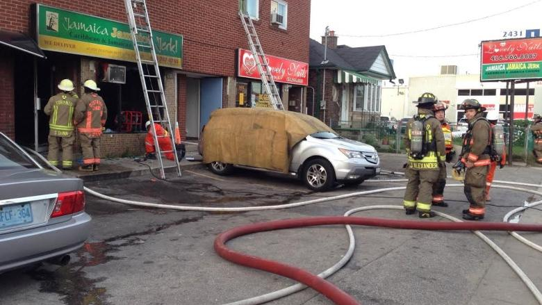 3-alarm fire at St. Clair Avenue West and Runnymede