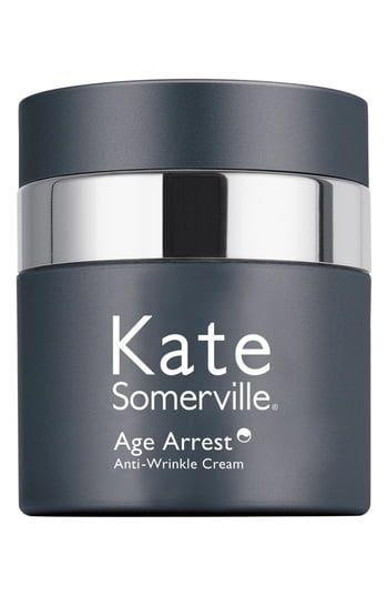 """<p><strong>Kate Somerville</strong></p><p>nordstrom.com</p><p><strong>$90.00</strong></p><p><a href=""""https://go.redirectingat.com?id=74968X1596630&url=https%3A%2F%2Fshop.nordstrom.com%2Fs%2Fkate-somerville-age-arrest-wrinkle-cream%2F3543456&sref=https%3A%2F%2Fwww.marieclaire.com%2Fbeauty%2Fg34015100%2Fanti-aging-moisturizers%2F"""" rel=""""nofollow noopener"""" target=""""_blank"""" data-ylk=""""slk:SHOP IT"""" class=""""link rapid-noclick-resp"""">SHOP IT</a></p><p>Wrinkles and fine lines? No thanks. This daily cream uses innovative technology to plump lines and reduce discoloration that's common with aging skin. </p>"""
