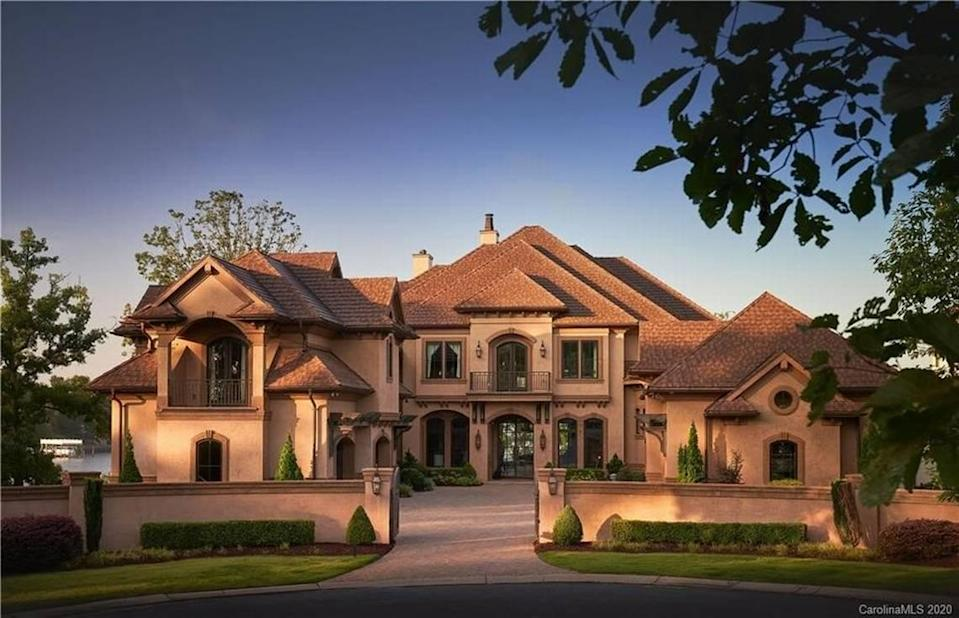 This mansion at 16700 Tinker Place, off Belle Isle Drive in Cornelius, sold on Dec. 30 for $6.6 million, according to Canopy MLS. The mansion remains the top home sale of the past six months in the Charlotte region, Canopy MLS reported.