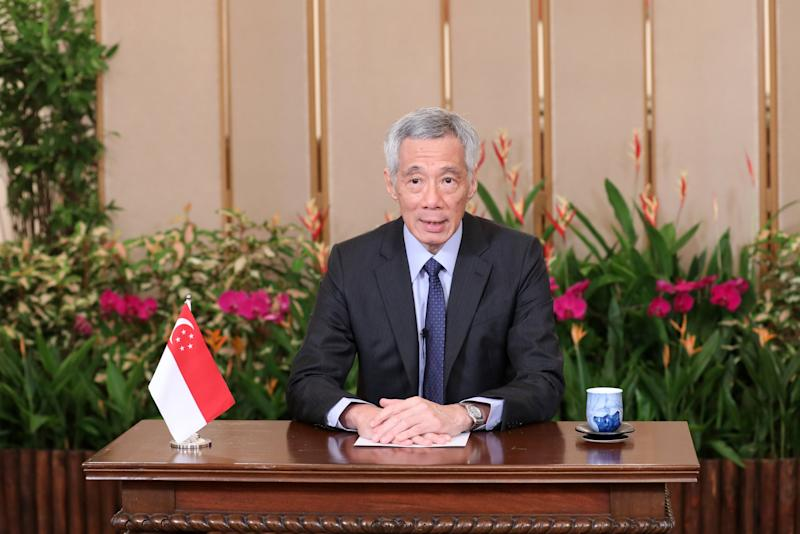 PM Lee delivering a video message for the World Health Organization on 8 April, 2020. (PHOTO: @leehsienloong/Twitter)