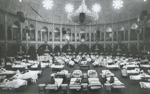 Wounded Indians in Brighton Pavillion makeshift hospital. Photo: Supplied.