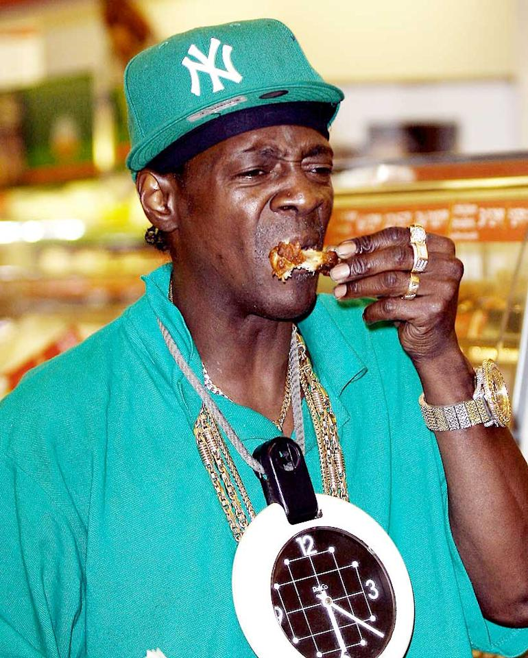 "Flavor Flav drops by a 7-11 in West Hollywood to grab a tasty late-night treat. Noah Fink/<a href=""http://www.x17online.com"" target=""new"">X17 Online</a> - August 11, 2009"