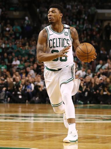 BOSTON, MA - MAY 27: Marcus Smart #36 of the Boston Celtics dribbles against the Cleveland Cavaliers during Game Seven of the 2018 NBA Eastern Conference Finals at TD Garden on May 27, 2018 in Boston, Massachusetts. (Photo by Maddie Meyer/Getty Images)