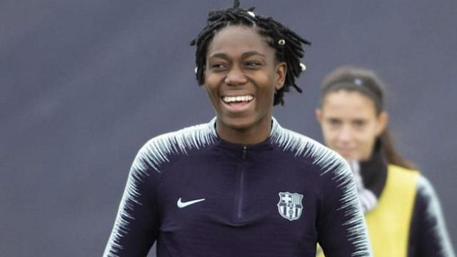 The Nigerian forward will continue to ply her trade in Spain for the next two years after impressing on loan