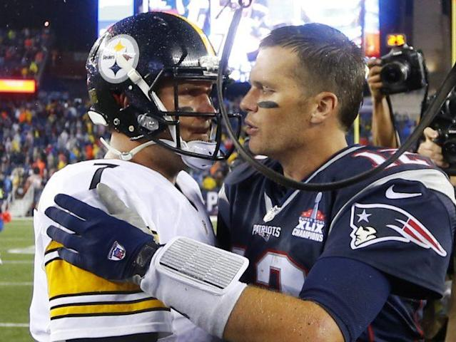 Tom Brady and Ben Roethlisberger are two of the four quarterbacks remaining in the playoffs who have started and won a Super Bowl. (AP)