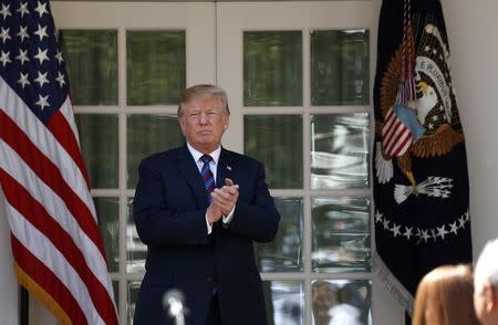 U.S. President Trump gives remarks on tax cuts for American workers during an event at the White House in Washington