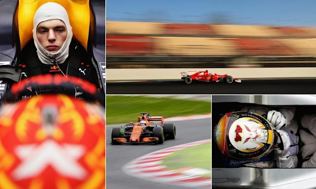 """<span class=""""element-image__caption"""">Max Verstappen can challenge at the front, Ferrari were strong in testing, Fernando Alonso is still struggling at McLaren and Lewis Hamilton remains the man to beat.</span> <span class=""""element-image__credit"""">Composite: AFP/Getty</span>"""