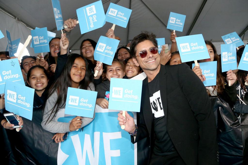 John Stamos was the host with the most. (Photo: Tommaso Boddi/Getty Images for WE)