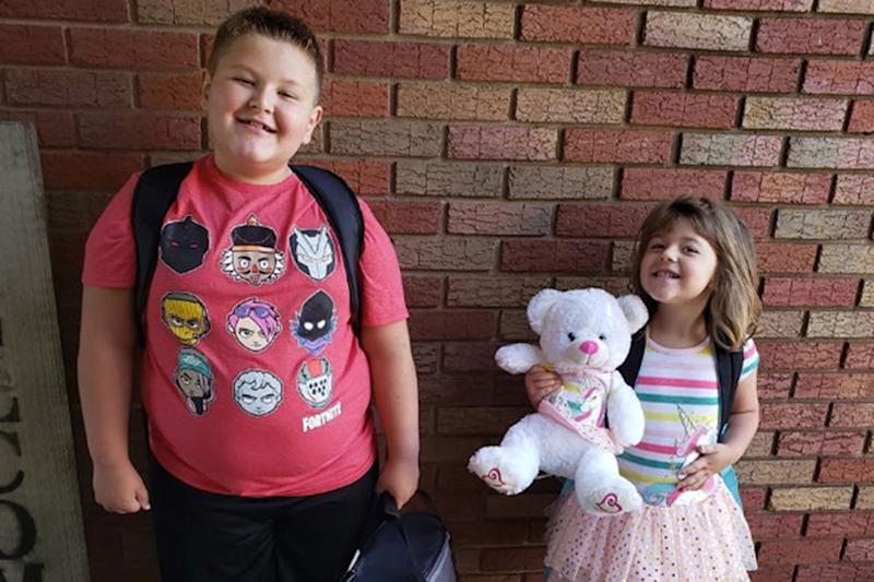 Pictured is Conner Snyder, 8, and his sister Brinley, 4.