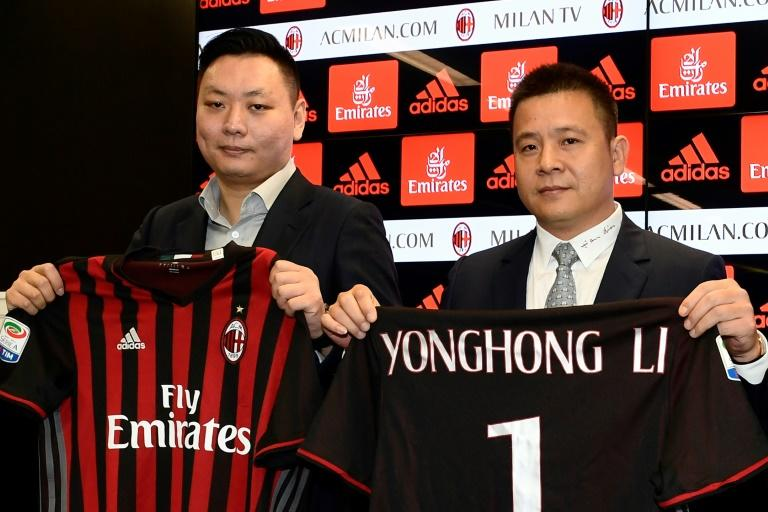 Chinese businessman Yonghong Li (right) was named as AC Milan's new president after his $786 million takeover of the Serie A side